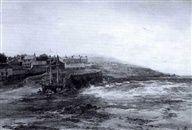 """Albert Pollitt - A Village by the Coast 1906 Height 18.9"""" x Width 27.6"""" (Height 48 cm x Width 70 cm)"""