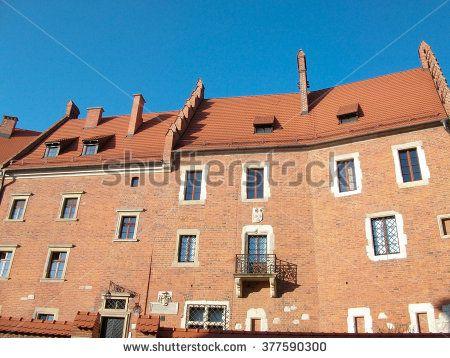 Building inside Krakow fortress  - stock photo