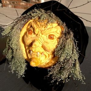 Hagatha is a 3D Pumpkin Carving by Theressa Wright