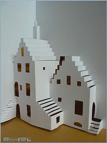76 best Kirigami images on Pinterest Pop up cards, 3d cards and - maquette d une maison