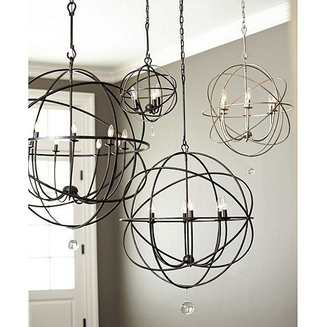 Orb Chandelier  (Ballard Designs)  $499.00 I'd love to see a few of these in a foyer or over a set of stairs.
