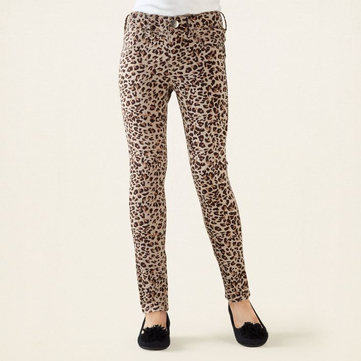 Leopard jeans for girls from The Children's Place