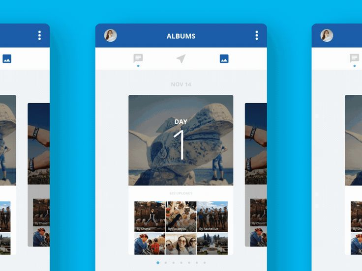 Exploring auto-sorting photo albums by day with a card UI.