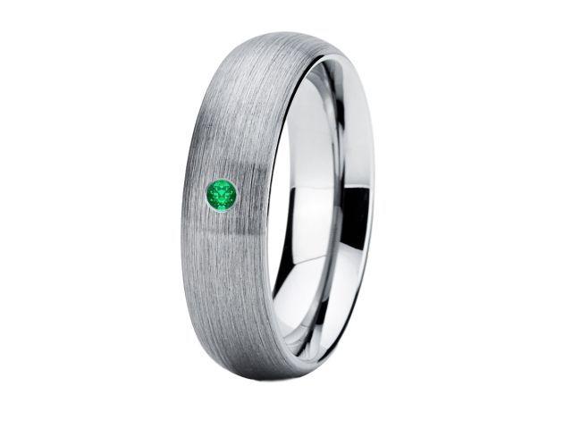 6mm Emerald Wedding Ring