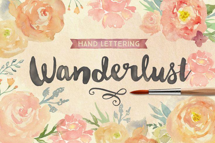 wanderlust modern brush lettering