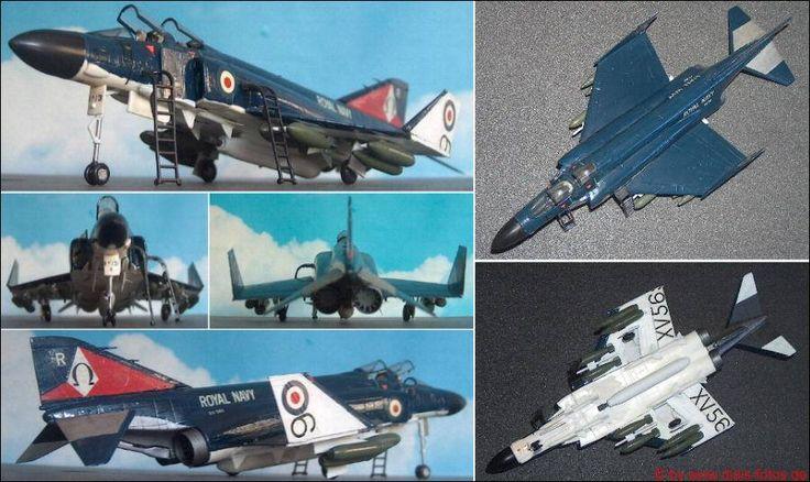 """McDonnell-Douglas (MDD) F-4K """"Phantom II"""", Marine-Kampfflugzeug (Hasegawa D-01) 1:72"""