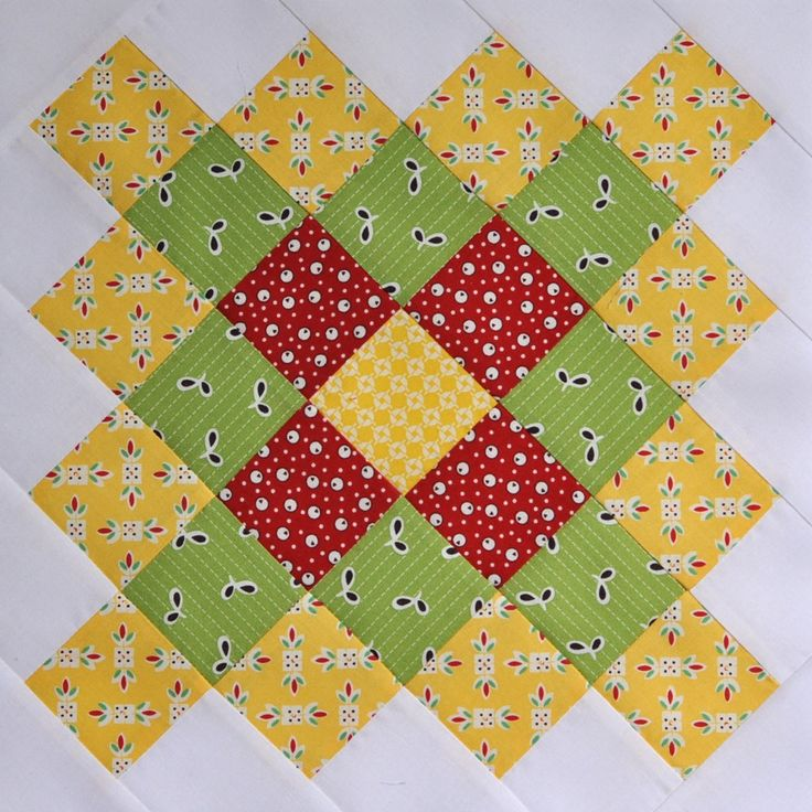 Yellow Great Granny Block by bitty bits & pieces