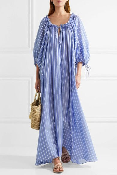 Three Graces London | Almost A Honey Moon striped cotton maxi dress | NET-A-PORTER.COM