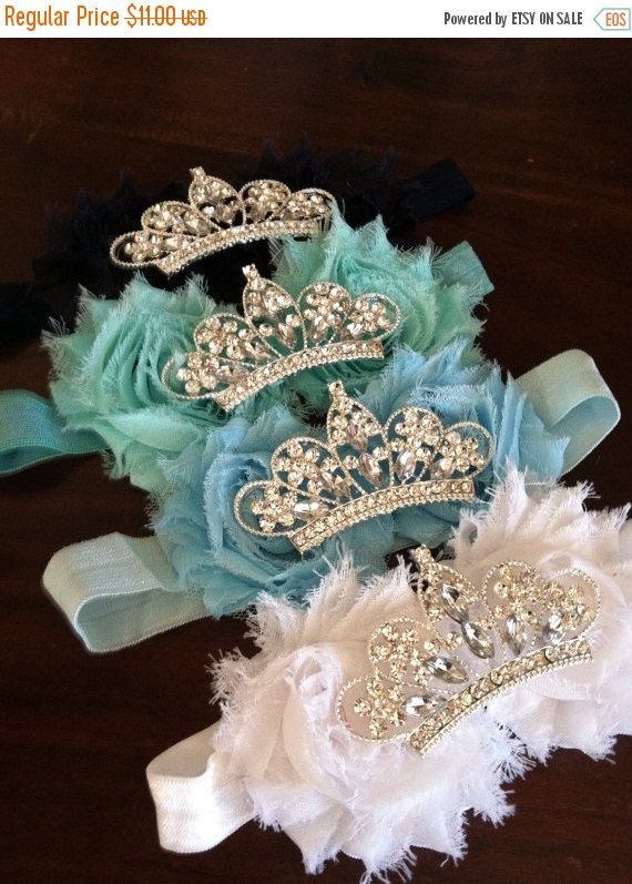 FLASH SALE Baby Crown headband Flower Tiara by luxieblooms on Etsy