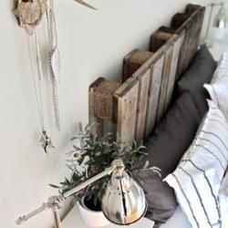 Recycle Old Pallets.. Headboard?