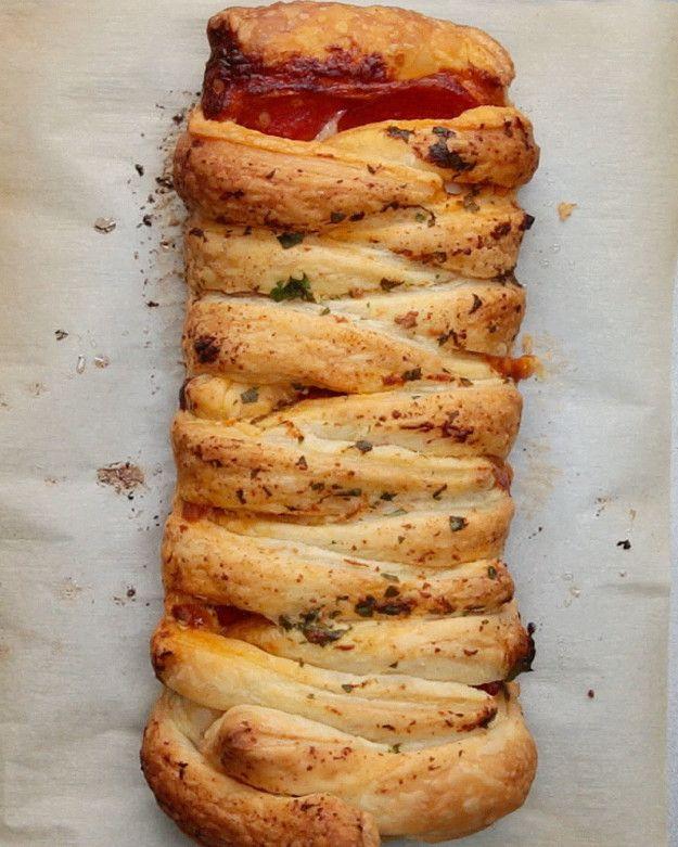 Pizza Braid: apperitief/eten