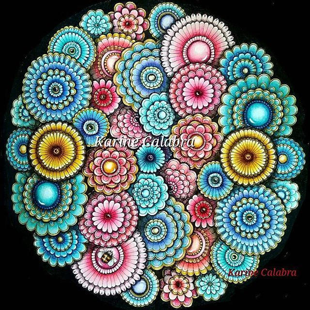 Mandala secret garden by Karine Calabra