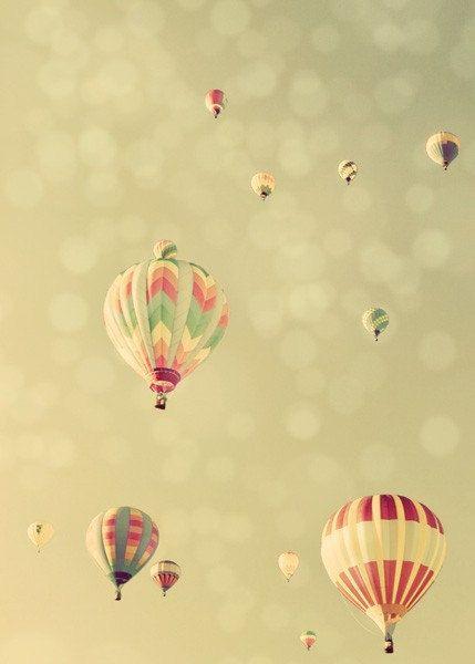Hot Air Balloon Photograph, Dream of Flight, 5x7 Fine Art Photography Print. No. 3237. Vertical. $17.00, via Etsy.