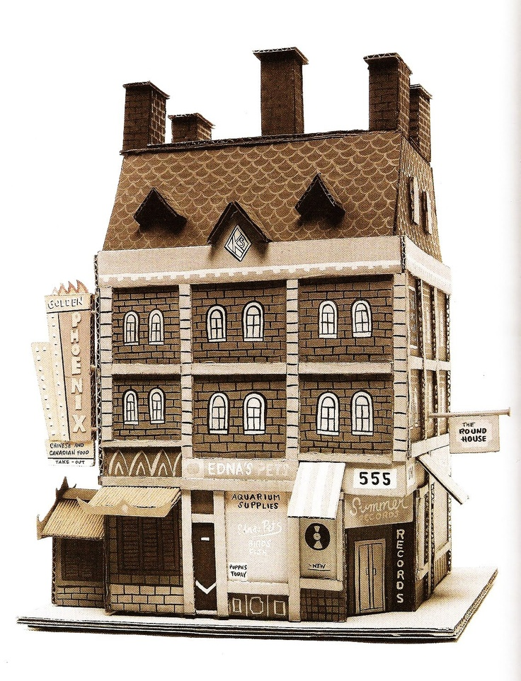 Comic artist Seth constructs these buildings out of cardboard