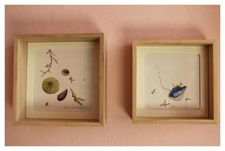 Lisa Strachan   'Shore Study' (pair)   Watercolour on Paper