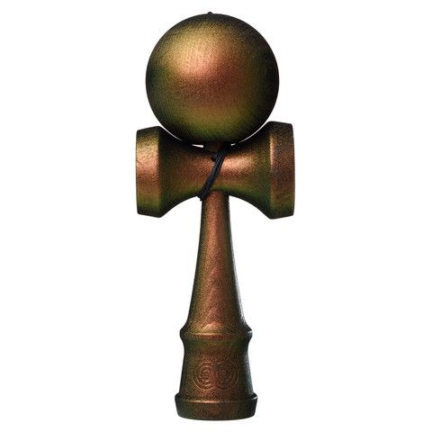 Kendama USA - The Cook - Color Shift Complete - Kaizen - Green and Copper