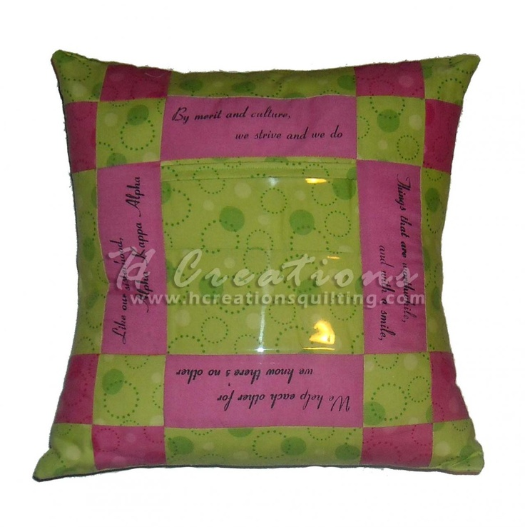 Alpha Kappa Alpha hymn lyrics pillow w/ photo insert ...