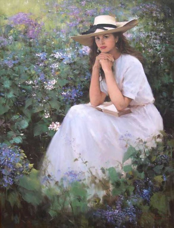 1000+ images about Beautiful Women◆Paintings on Pinterest