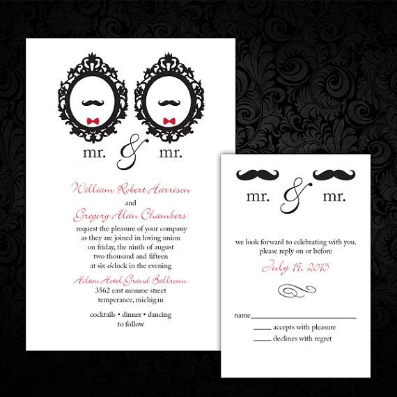 9 best Same Sex Wedding InvitationsSave the Date images on