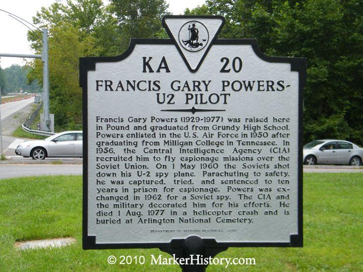 Francis Gary Powers - U2 Pilot. Memorial Marker in Virginia.