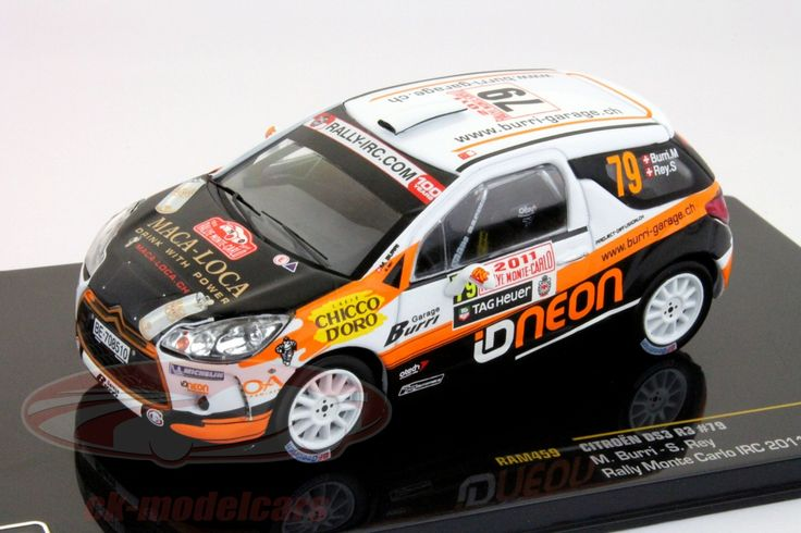 Citroen DS3 R3, IRC Rally Monte Carlo 2011, No.79, M.Burri / S.Rey. Ixo, 1/43. Price (2016): 13 EUR.