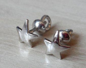 925 Silver Star Stud Earrings, Star Earrings, Sterling Silver Star Earrings, 925 Star Jewelery, Silver Star Jewelry