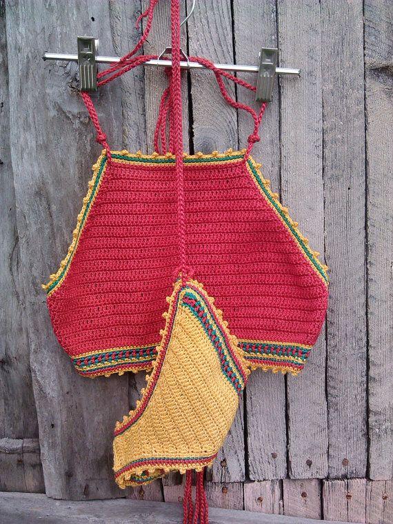 ganchillo bikini rojo Jamaica bikini de por GoodMoodCreations