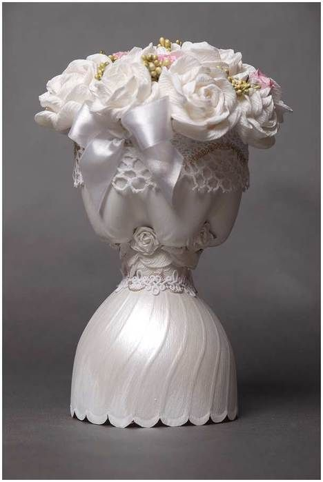 Vases from plastic bottles
