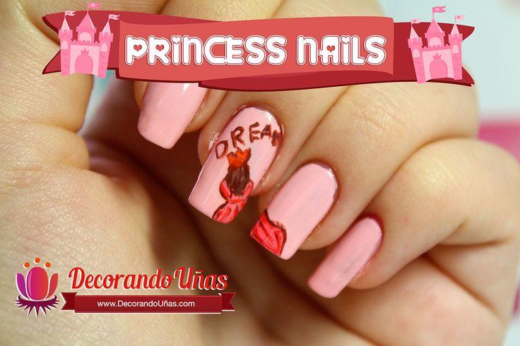 Uñas decoradas con princesas – Video Tutorial paso a paso   Decoración de Uñas - Manicura y Nail Art