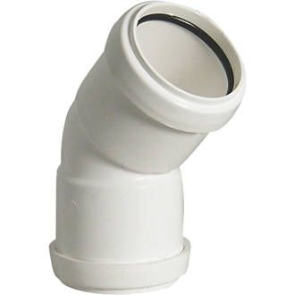 FloPlast Push-Fit Obtuse Bend White 135 (45)° Made from polypropylene, this is a quick and easy way to install waste systems incorporating a push-fit ring seal system. Fits most standard size waste pipe (excluding solvent weld waste). An allowanc http://www.MightGet.com/january-2017-13/floplast-push-fit-obtuse-bend-white-135-45-°.asp