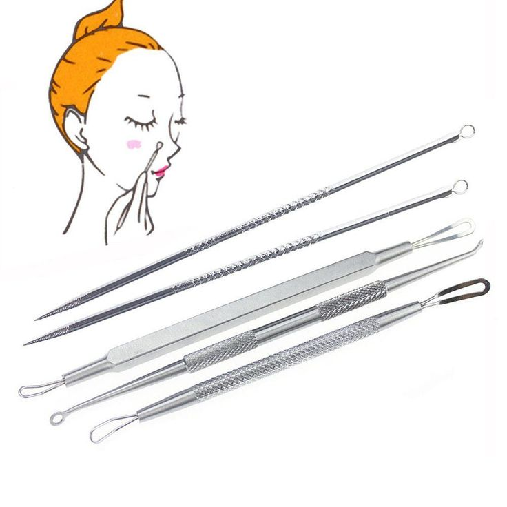 5pc Double-side Blackhead Pimple Blemish Acne Extractor Needle Skin Removel Tool #Doesnotapply