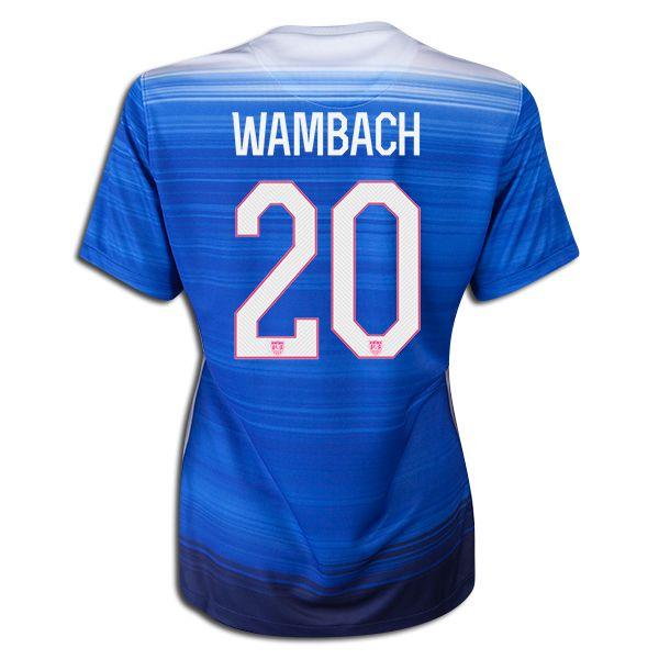 2015 FIFA Women's World Cup USA Abby Wambach 20 Women Away Soccer Jersey