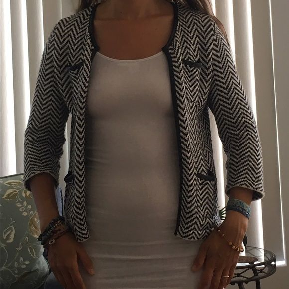 Cadrigan/ blazer Cotton/ soft / comfy blazer/ cardigan style 3 quarter sleeves from Nordstrom- fits even a small (it is xs)- foe leather trim Jackets & Coats Blazers