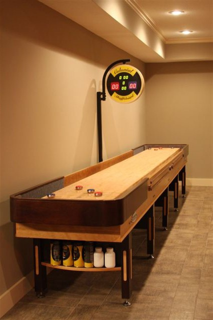 He Would Want A Shuffleboard Table Man Cave Game Room