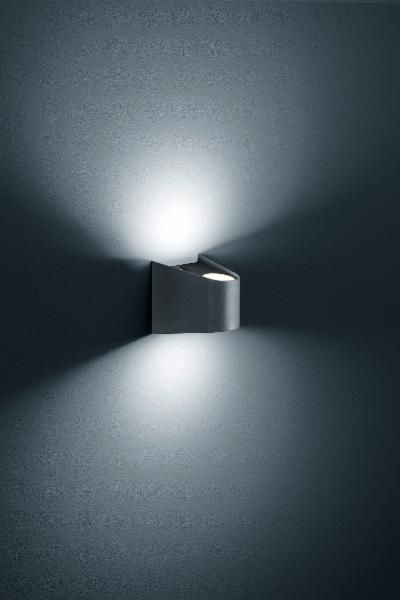 Trio Sava LED Buitenwandlamp Antraciet