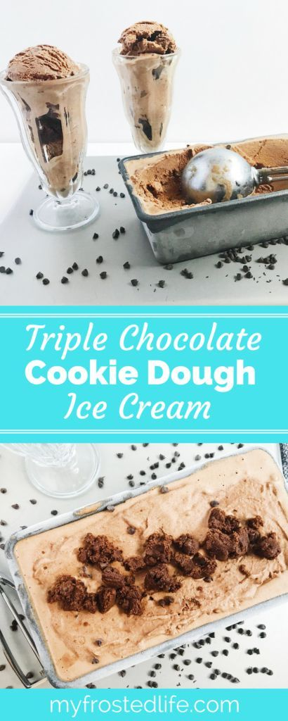 Triple Chocolate Cookie Dough Ice Cream