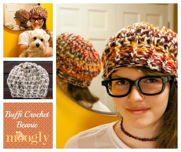 Buffi Crochet Beanie - free #crochet hat pattern in 3 sizes on Mooglyblog.com super bulky yarn 108 yds