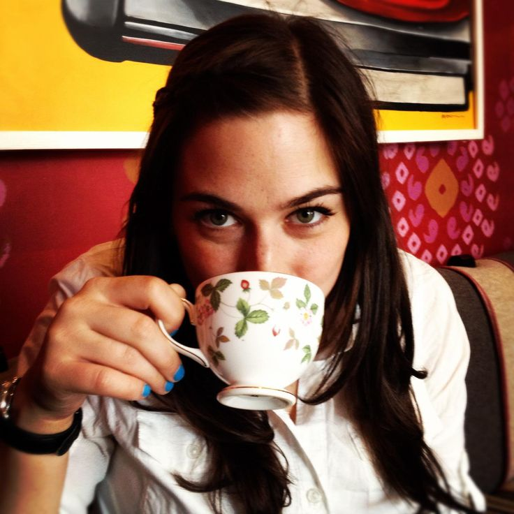 Jenna Berger, industry analyst, with a fine teacup.