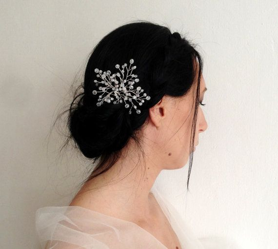 Bridal Crystal Hair Vine  Wired Hair Pin  Made by KristineBridal, $49.00