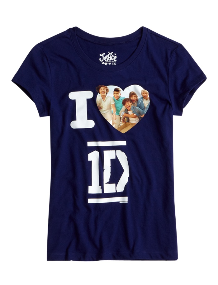 1D Tee With Heart | Bffs And Faves | Graphic Tees | Shop Justice