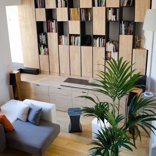 It's been awhile since we covered small apartment living, but this one deserves a mention. The apartment is located in Bordeaux, France and the renovation was carried out by architect Elodie Gaschard of Atelier Miel and Michaël Martins Alfonso. The apartment measures only 484 square feet (45 sq m), and the architects first created a series of storage solutions, and built-in furniture pieces, with the aim of getting rid of the clutter, which so often…