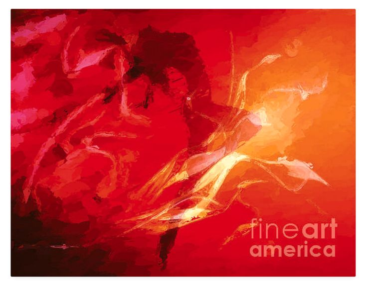 A silhouette woman throws her head back as she dances. The flames are not real of course but they give this red and yellow digital abstract some fine drama. She is dancing to celebrate her freedom.