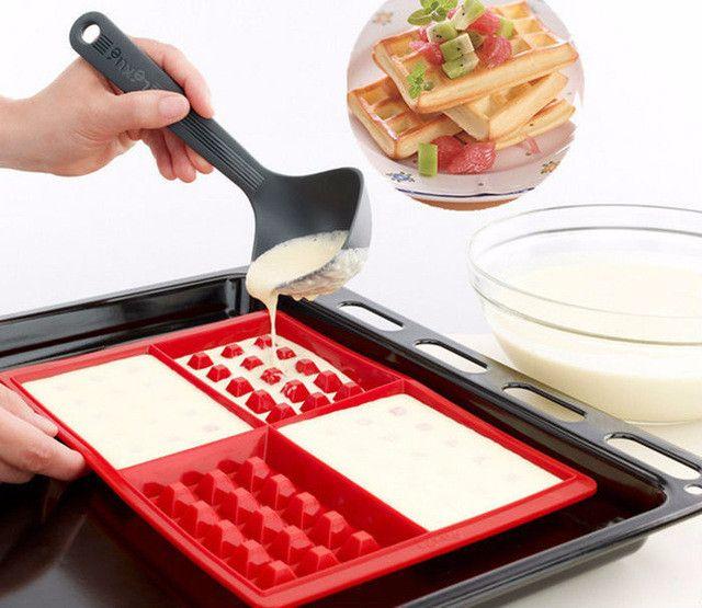 4-Way Waffle Maker Mold