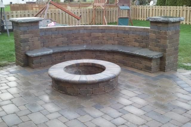17 best images about the great outdoors on pinterest for Backyard brick fire pit