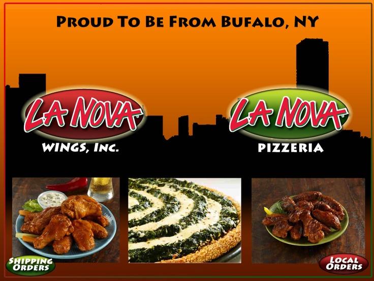 La Nova pizza and Buffalo wings