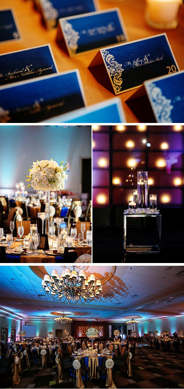 Blue and gold wedding decor  The  best images about wedding ideas on Pinterest  Henna
