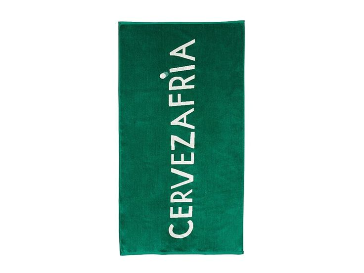 """Bathing suit, check. Cooler of beers, check. Bottle opener, check. Towel that says """"cold beer"""" in Spanish, check. Clare V. x One Kings Lane Beach Towel, $39.00"""
