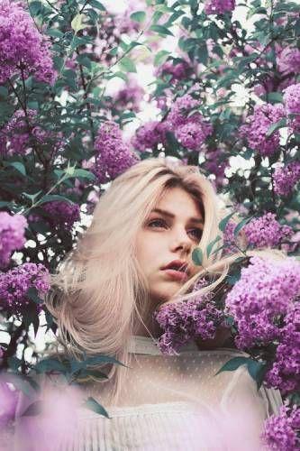 Весенний портрет в цвету сирени - Лучшие идеи для фотосессий