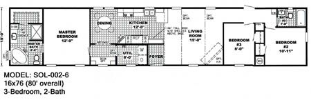 Scotbilt mobile home floor plans singelwide 16x76 3br for 3br 2ba floor plans