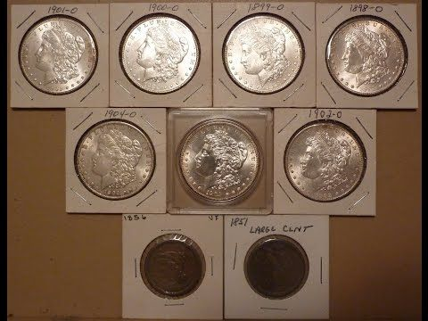 Weekend Buys; Coin Collection Update; Morgan Silver Dollars June 2016 - YouTube